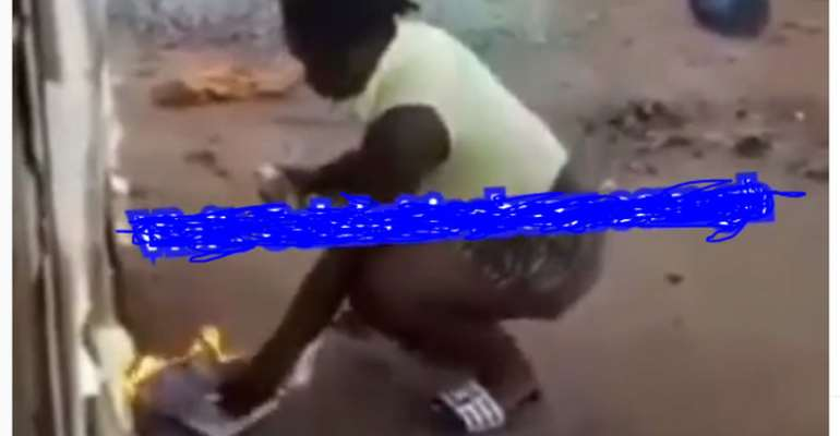 [Video] Ghanaian Slay Queen Sets Bible Ablaze To Test God's Power