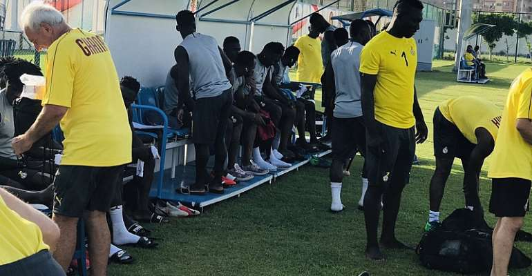 AFCON 2019: Black Stars Intensify Training Ahead Of Cameroon Encounter [PHOTOS]