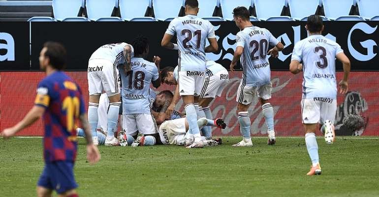 Joseph Aidoo Features As Celta Vigo Dent Barcelona's La Liga Ambition