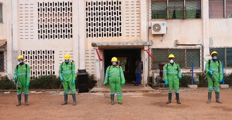 COVID-19 Fight: GRIDCo, Pantang Hospital Take Their Turn In Zoomlion Disinfection Exercise
