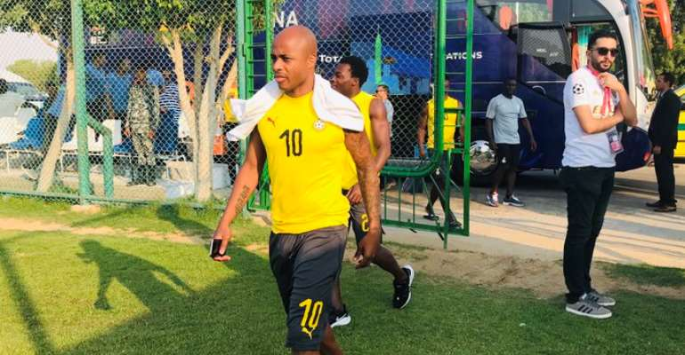 AFCON 2019: Dede Ayew Returns Training Ahead Of Cameroon Clash
