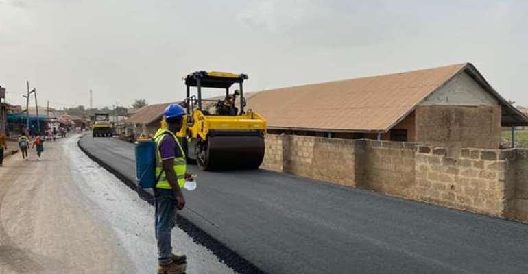Obuasi Road Works: ''Mactina - Court Area