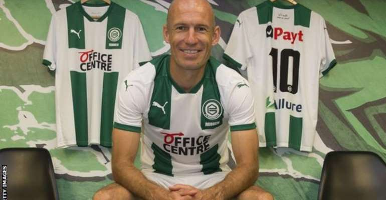 Robben made his breakthrough at Groningen before moving to PSV, Chelsea, Real Madrid and Bayern Munich