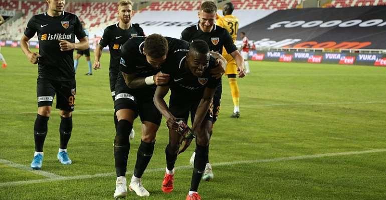 Bernard Mensah Score For Kayserispor In 2-0 Win At Sivasspor