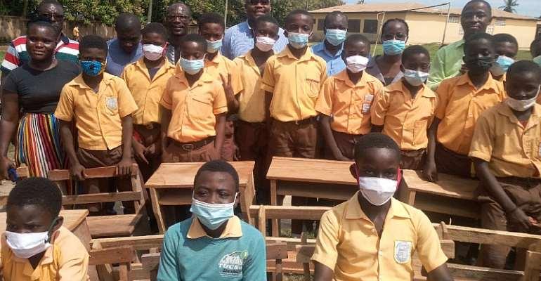 Cape Coast North MP donates mono and dual desks to 5 basic schools