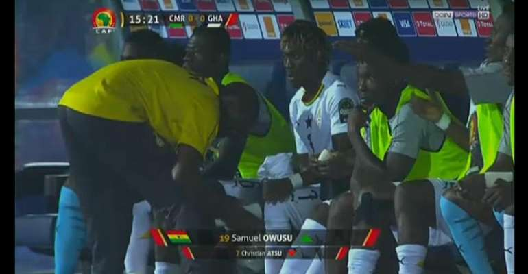 AFCON 2019: Christian Atsu Suffers Harmstring Injury As Black Stars Draw Blank With Cameroon