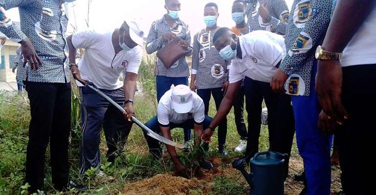 Green Ghana Agenda: ATU  plant trees at New Campus