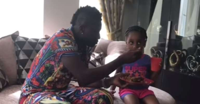 ADORABLE: Asamoah Gyan Spend Quality Time With Family In London