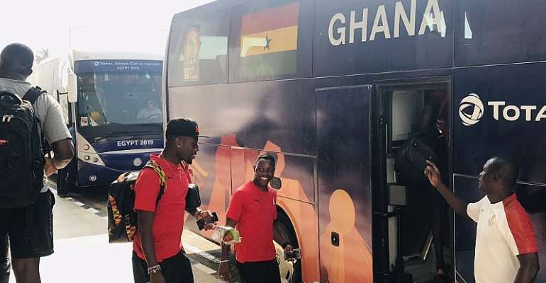 AFCON 2019: Ghana Leave Ismailia To Suez For Final Group Phase Game Against Guinea Bissau [PHOTOS]