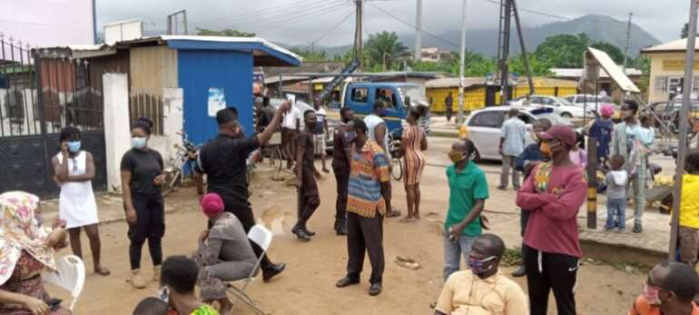 Voter Registration: Police Arrest Applicants Without Nose Masks In Koforidua