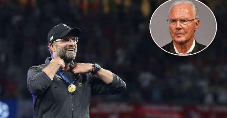 Jürgen Klopp, Liverpool's World class Trainer and Franz Beckenbauer, honorary President of FC Bayern