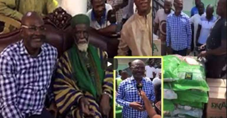 Ken Agyapong Floods Chief Imam's Residence With Rice