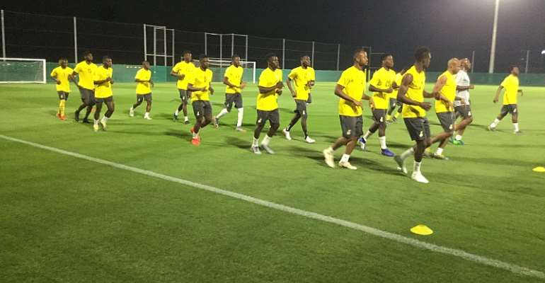 WATCH: Black Stars Train For The First Time In Abu Dhabi Ahead Of AFCON 2019