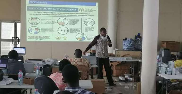 Orientation On Covid-19 By Dr. Dacosta Aboagye, Leader National Risk Communication & Social Mobilization Of The Ghana Health Service