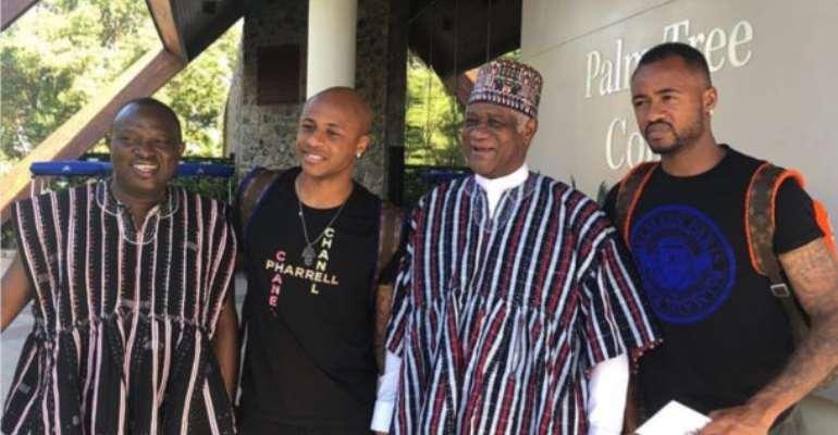 AFCON 2019: Ghana's Ambassador To UAE Visits Black Stars In Camp
