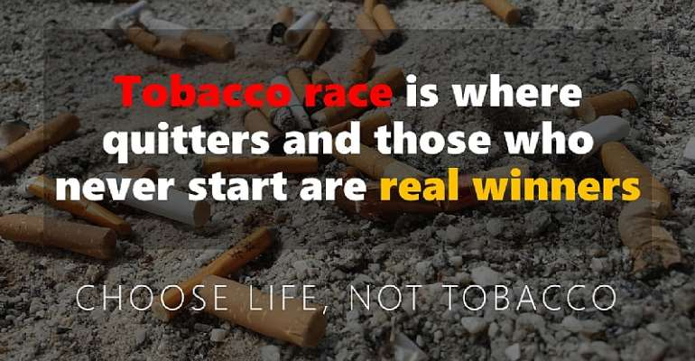 Tobacco race: where quitters and non-runners are the real winners