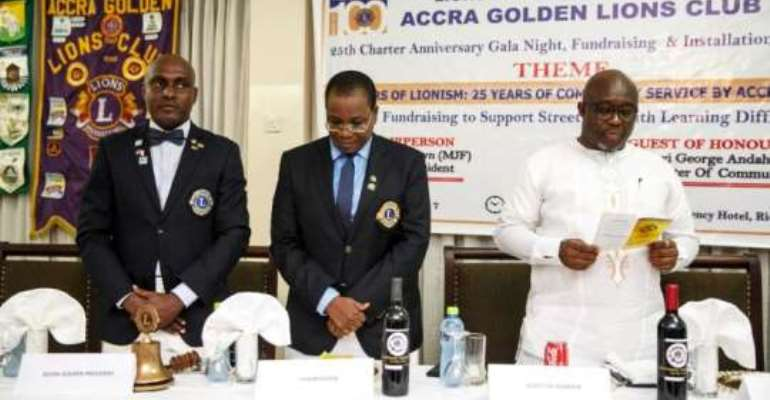 George Andah lauds the Lions club
