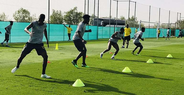 AFCON 2019: Watch Black Stars Day III Training Session In Abu Dhabi [VIDEO+PHOTOS]