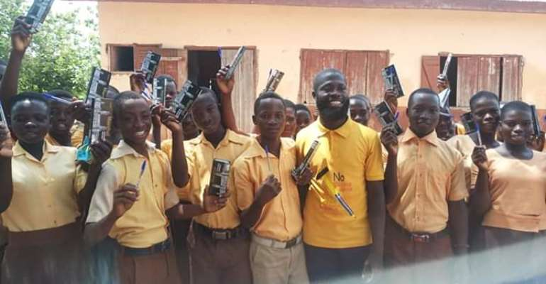 352 Bece Candidates In Krachi West Receive Mathematical Sets From Hon. Francis Ntem Odenkey