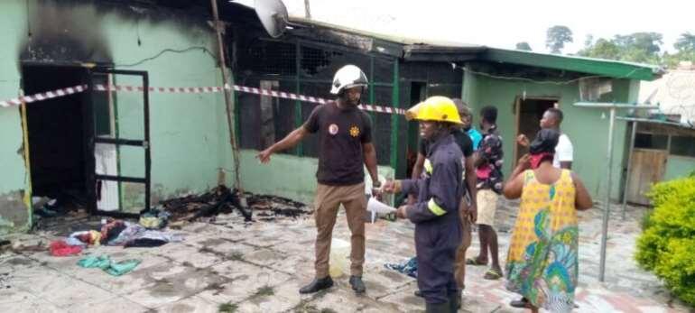 WN/R: Fire Outbreak Kills Three Children At Bibiani