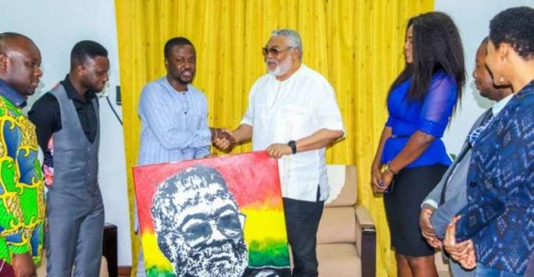 iYes Ghana Executives Pay Courtesy Call On JJ Rawlings