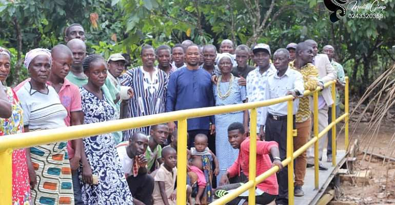 Mpohor MP, DCE Open Bridge, Donate To Communities