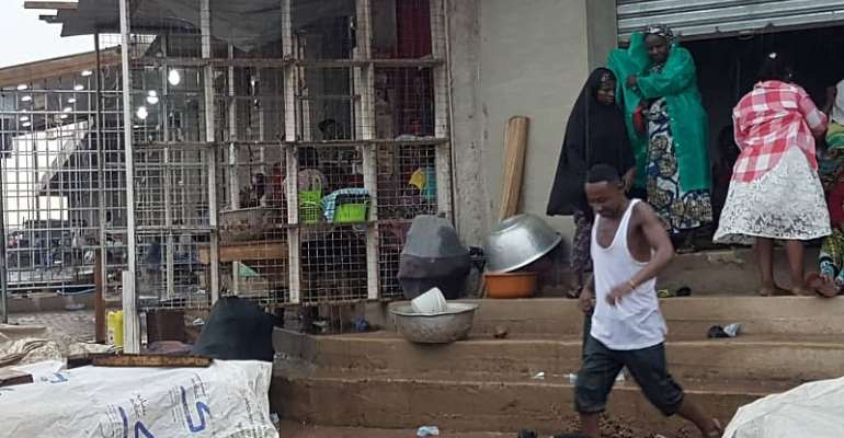 Accra: Looming Danger!! Another Death TrapSpotted At CMB Market