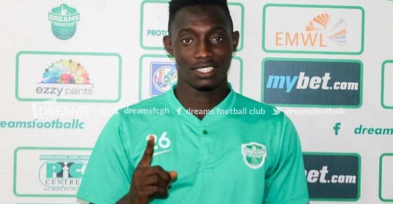 Dreams FC Confirm Signing Of Striker Prince Okraku