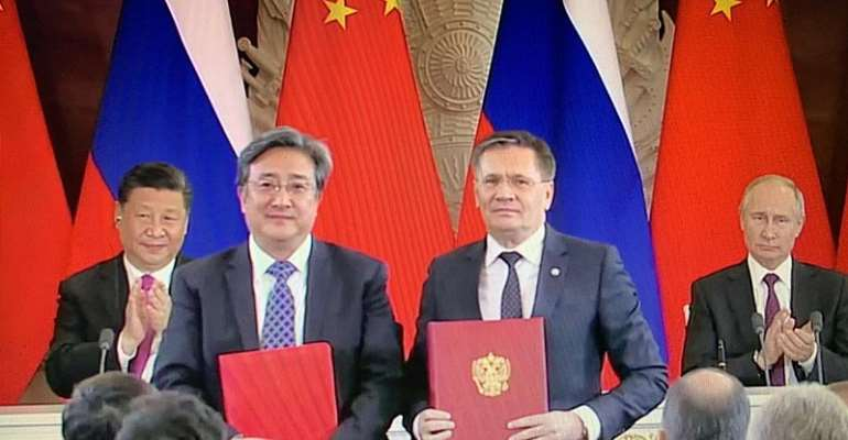 China-Russia sign contract for units 3-4 of Xudapu NPP (1)