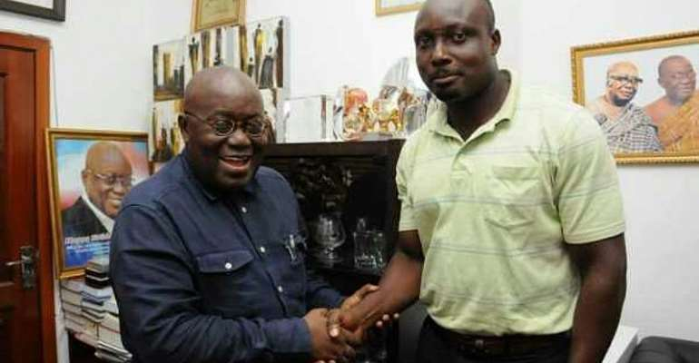 The MCE (right) when he visited President Nana Akufo-Addo recently