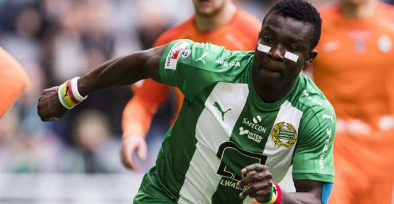 Ghanaian defender Joseph Aidoo remains coy on Hammarby future