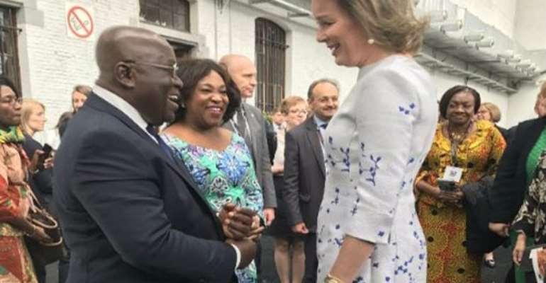 President Akufo-Addo meets Queen Mathilde of Belgium