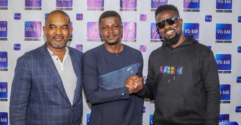Sarkodie, Lexis Bill, Bridget Otoo, Others Meet Vu-Me CEO, Executives
