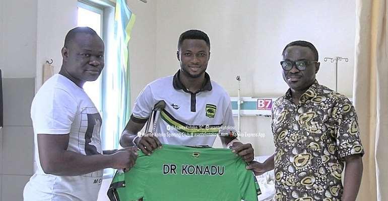 Osei Kwame: Injured Kotoko Goalkeeper Discharged After Successful Surgery At KATH