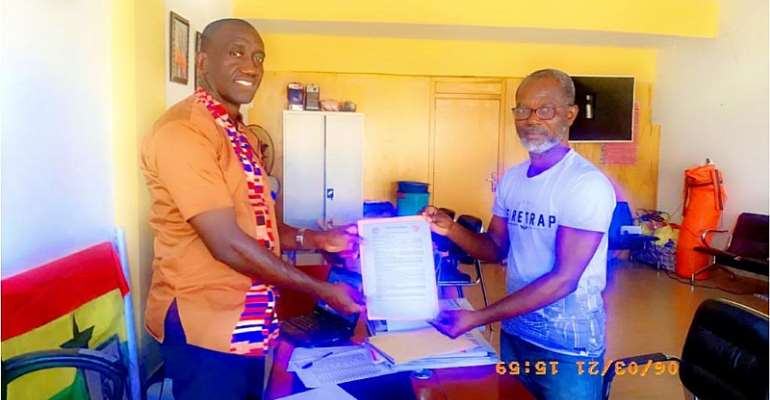 Referee Roger Barnor picks nomination forms to contest GBA elections