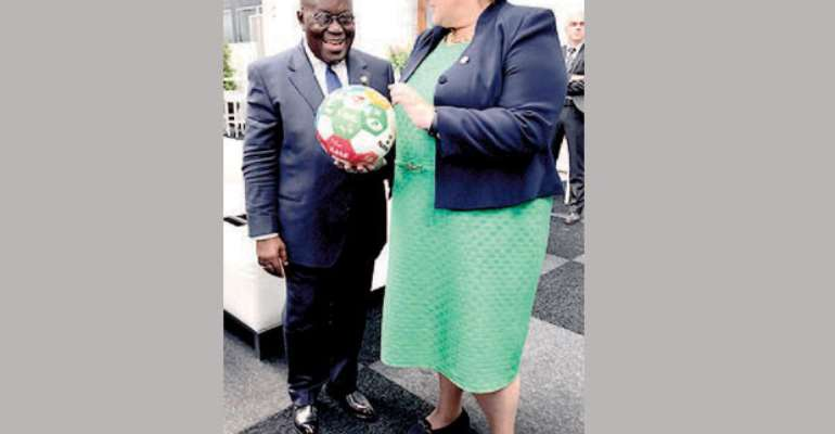 President Akufo-Addo with Erna Solberg, Prime Minister of Norway