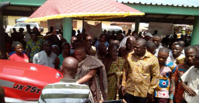 Minister Assist Kwahu Farmers With Tractors