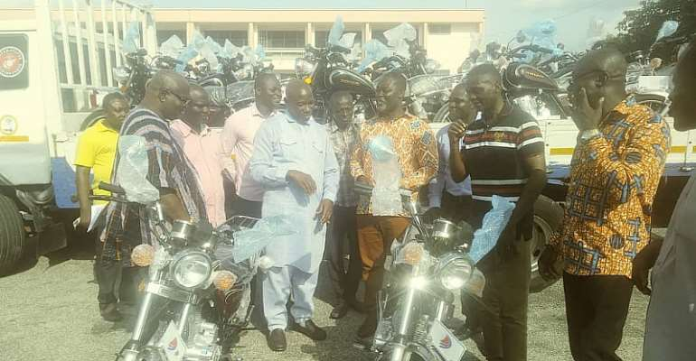 Eastern Regional Minister Presents 1,238 Motorbikes To Assembly Members