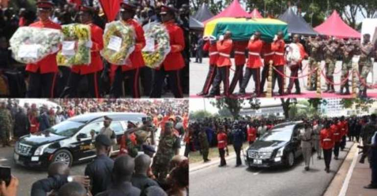 Ghana grieves as the Military sends home one its finest