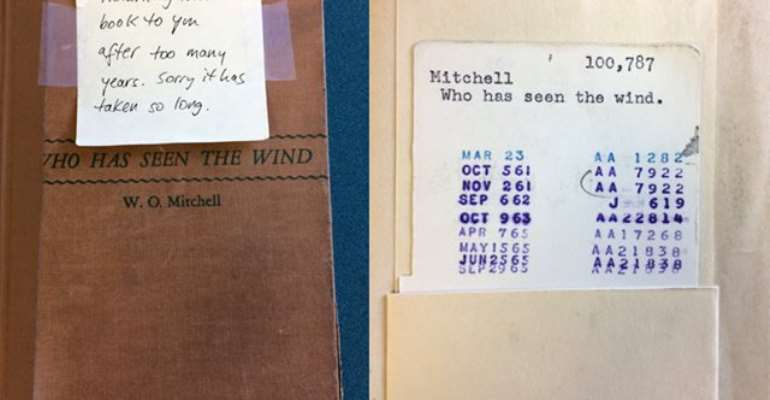 Library gets book back 52 years late