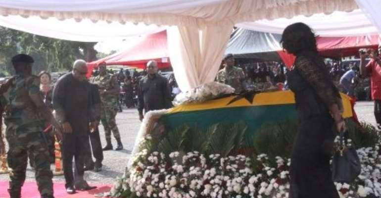 Former Presidents mourn Major Mahama