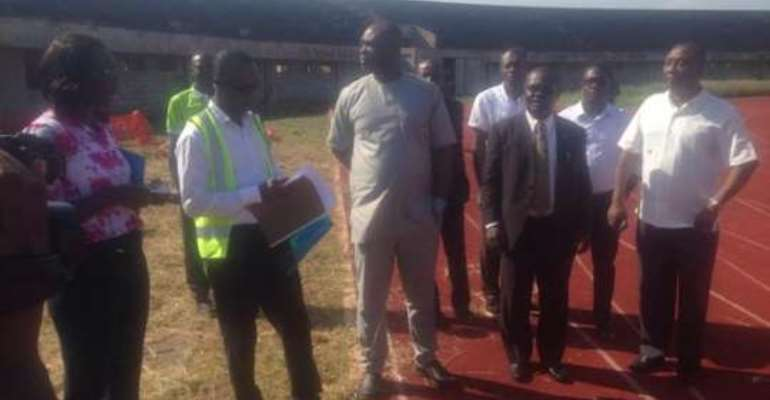 Sports Minister inspects University of Ghana Stadium