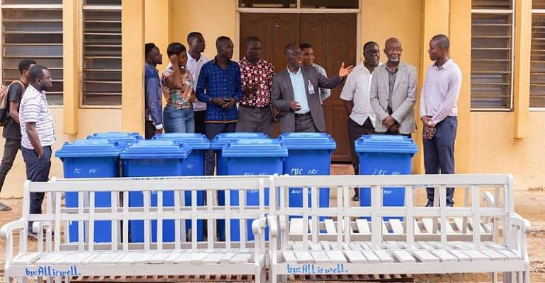 SRC President Donates Chairs And Bins To PUC