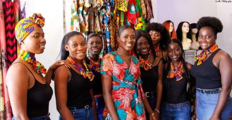 Fella Makafui Kisses Medikal At Reopening Of Her Clothing Shop