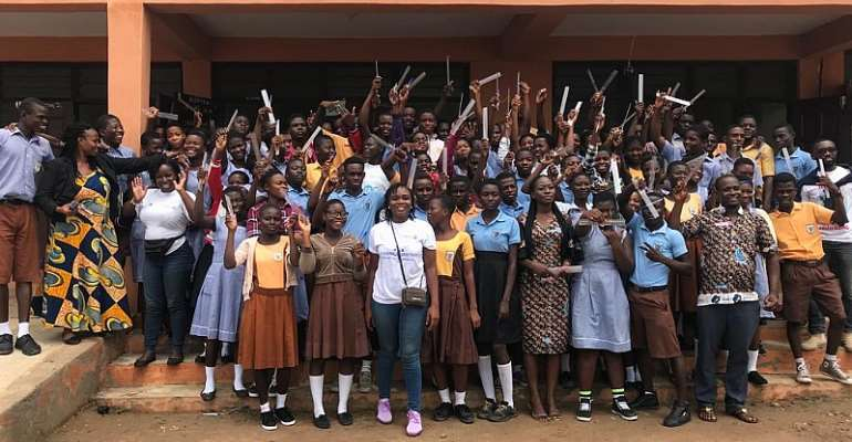 600 BECE Candidates Receive Examination Materials From Rotary Club Of Tema