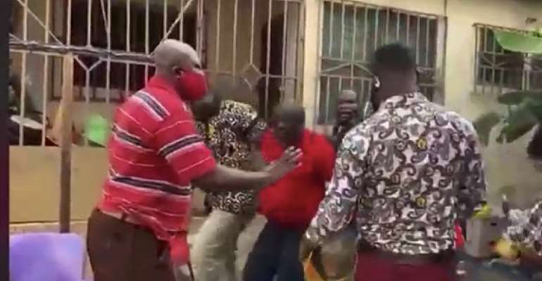 Breaking News: National Security Storm Prophet Owusu Agyei's House, Drag And Arrested Him During An Interview [Watch]