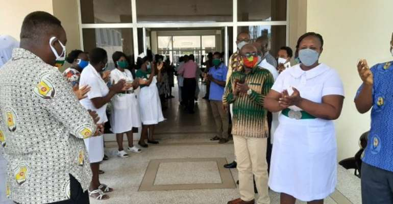 Upper Regional Hospital Welcomes 11 Recovered COVID-19 Staff