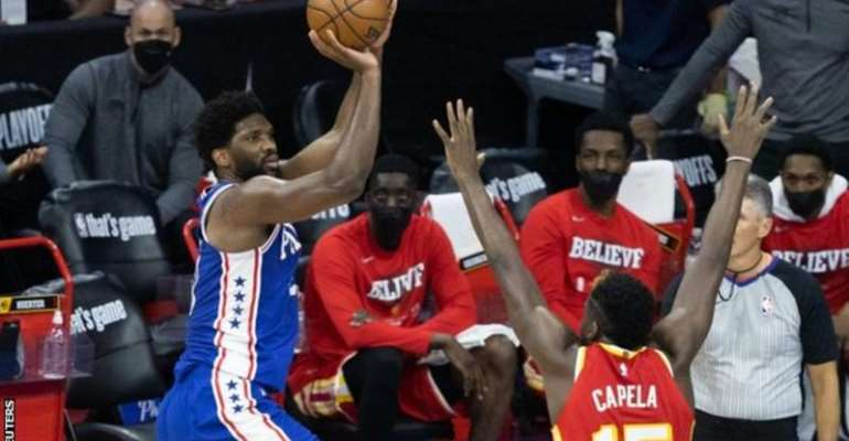 Joel Embiid came second in voting for the season's Most Valuable Player in the NBA