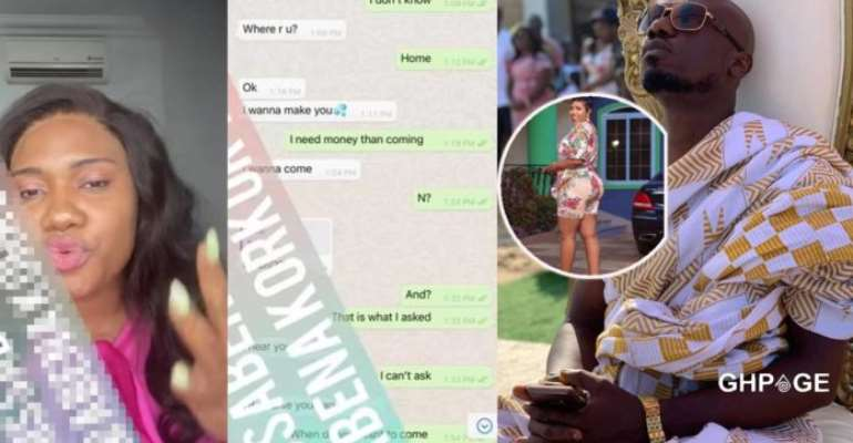[VIDEO] Abena Korkor releases WhatsApp chat of Nkonkonsa begging to lick her