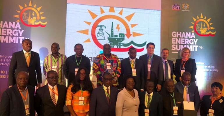 Participants at the summit in a group photo after the opening ceremony